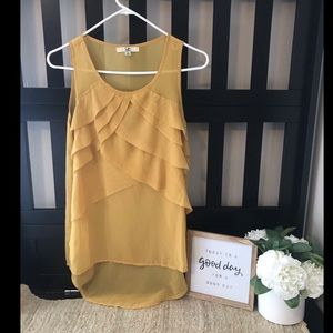 Layered Mustard Yellow Tank